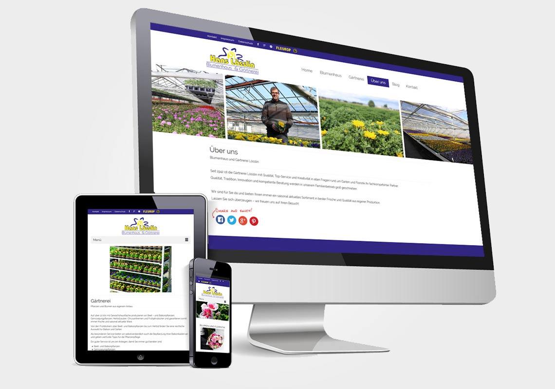 Gärtnerei Lössöin - responsives Webdesign