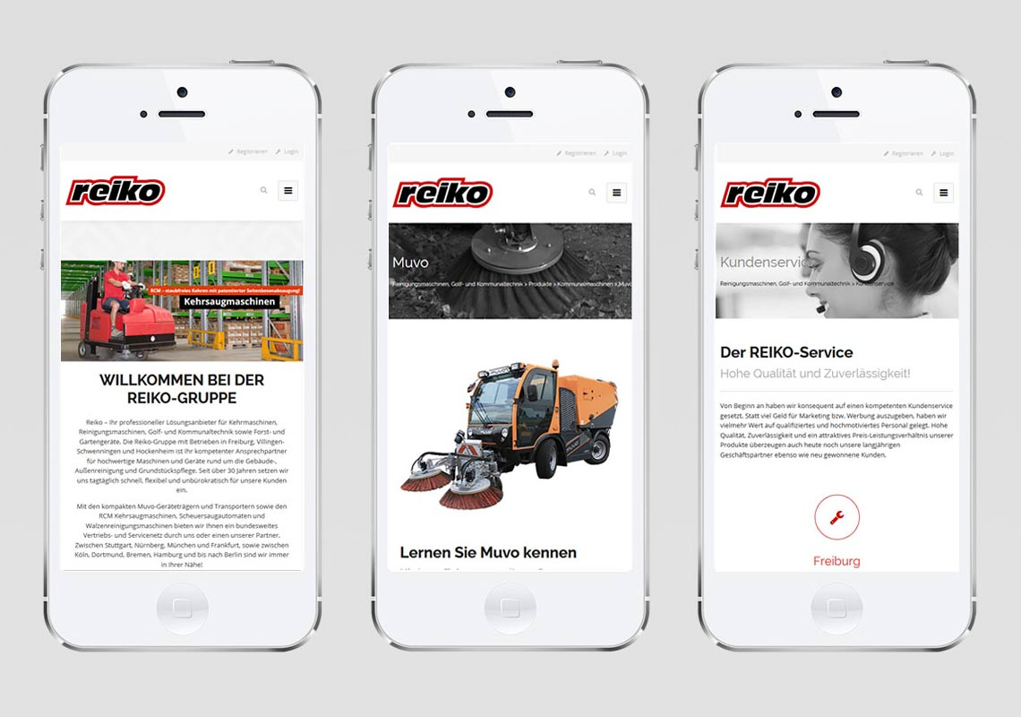 CMS Reiko Freiburg Webdesign
